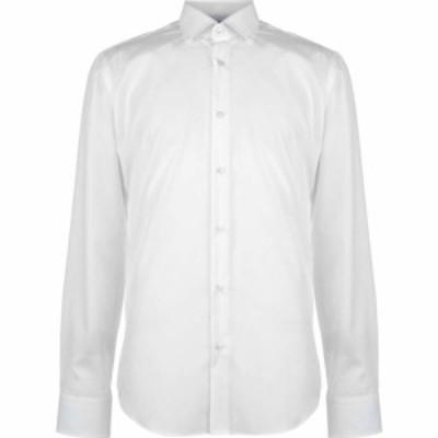 ヒューゴ ボス BOSS メンズ シャツ トップス Gelson Easy Iron Shirt White