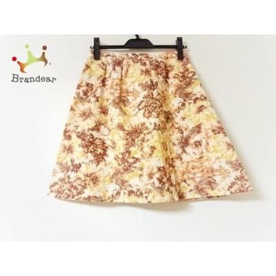 ジユウク 自由区/jiyuku スカート サイズ38 M レディース 美品 ブラウン×マルチ       スペシャル特価 20200601