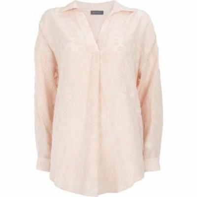 ミルトン ベルベット Mint Velvet レディース ブラウス・シャツ トップス Blush Jacquard Oversized Shirt Pink