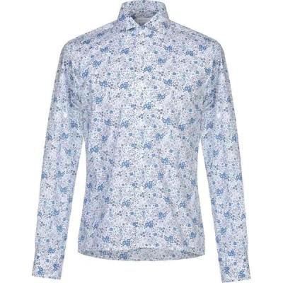 カリスト カンポラ CALLISTO CAMPORA メンズ シャツ トップス Patterned Shirt Blue