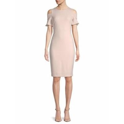 カルバンクライン レディース ワンピース Cold-Shoulder Dress