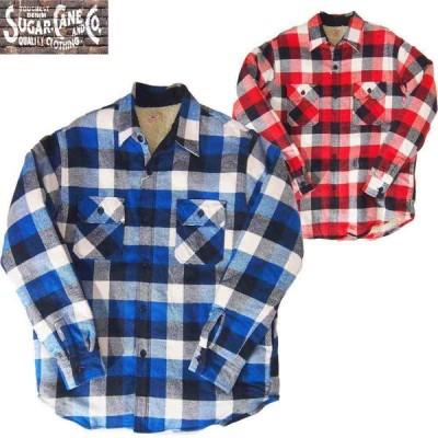 SUGAR CANE/シュガーケーン  ツイルチェック長袖CPOシャツ  Mサイズ 2カラー メンズ 送料無料