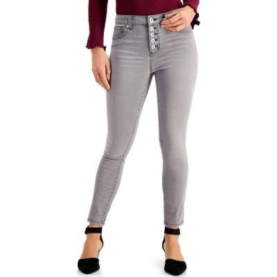 スタイル&コー Style & Co レディース ジーンズ・デニム スキニー ボトムス・パンツ Button-Fly High Rise Skinny Ankle Jeans Gothic Grey