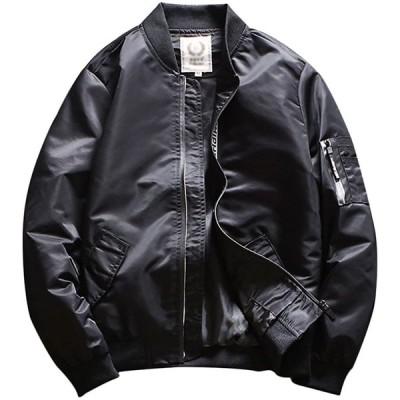 Froyland(フロラン) メンズ (フロラン)FroylandブルゾンMA-1ジャケットジャンパー春秋ライトアウターアウトドアカジュアルスタジャン