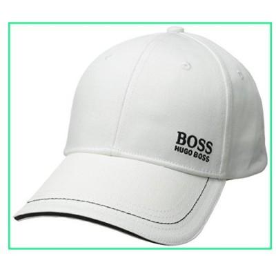 HUGO BOSS 50245070 Men's Logo Twill Cap 1, white, One size