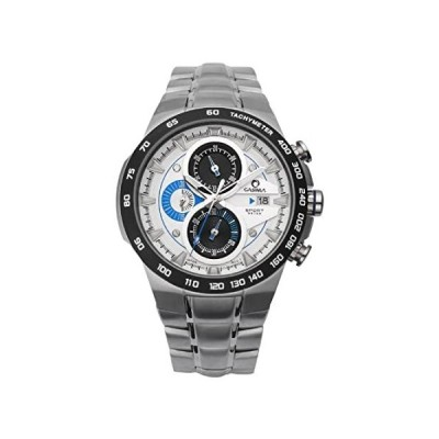 CASIMAメンズクロノグラフスポーツステンレススチールBand防水100M Quartz Wrist Watches st-8209-s8