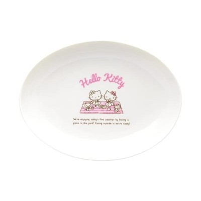 白/08.カレー&パスタ皿 サンリオ SANRIO 「 Hello Kitty ハロー