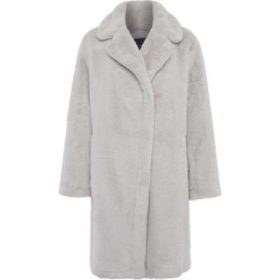 フレンチコネクション French Connection レディース コート ファーコート アウター Banna Long Faux Fur Coat Stone Grey