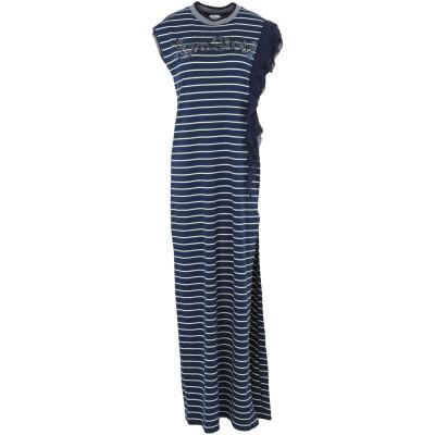PINKO UNIQUENESS ロングワンピース&ドレス ダークブルー S 100% コットン ロングワンピース&ドレス