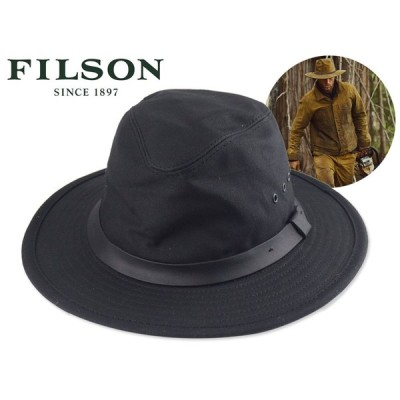 【送料無料】☆FILSON【フィルソン】TIN CLOTH PACKER HAT BLACK コットンハット ブラック 17884 [アウトドア OUTDOOR]