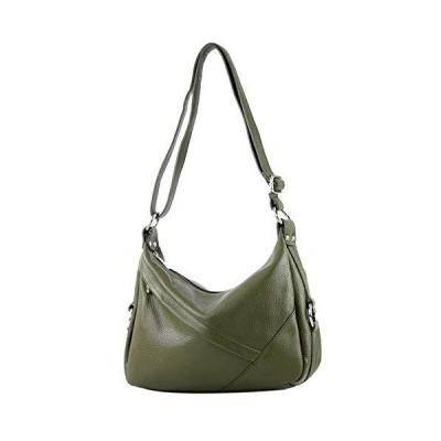 modamoda de - ital. Leather bag Ladies bag Shoulder bag Shoulder bag Genuine leather T164, Colour:olive green 並行輸入品