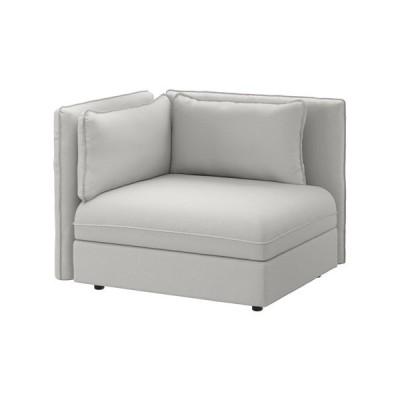 IKEA・イケア ソファ VALLENTUNA シートモジュール 背もたれ付き オッルスタ ライトグレー (291.496.61)