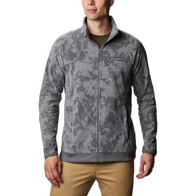 コロンビア ジャケット&ブルゾン メンズ アウター Columbia Men's Crater Summit Printed Fleece Full Zip Jacket Nimbus Grey Snowy Caps