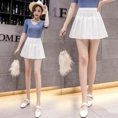 スカート ひざ丈スカート レディーススカート 韓国 きれいめ 着痩せ 百褶? 大人 レジャー ファッション 夏服