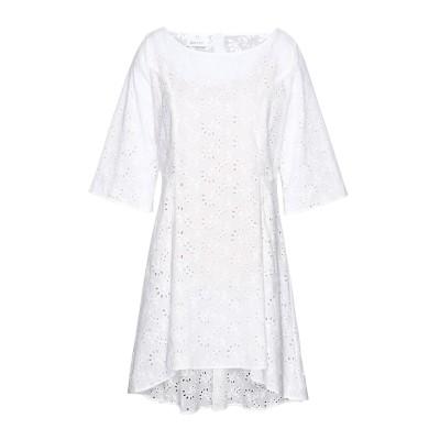 ジョージ ジェイ ラブ GEORGE J. LOVE ミニワンピース&ドレス ホワイト XS コットン 100% ミニワンピース&ドレス