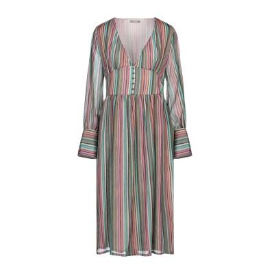 DIXIE 7分丈ワンピース・ドレス グリーン M ポリエステル 100% 7分丈ワンピース・ドレス