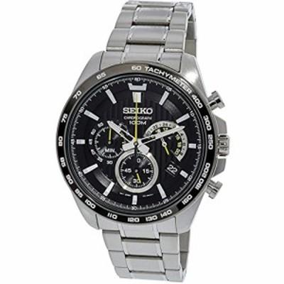 腕時計 セイコー メンズ Seiko SSB303P1 Men's Black Dial Steel Bracelet Chronograph Watch