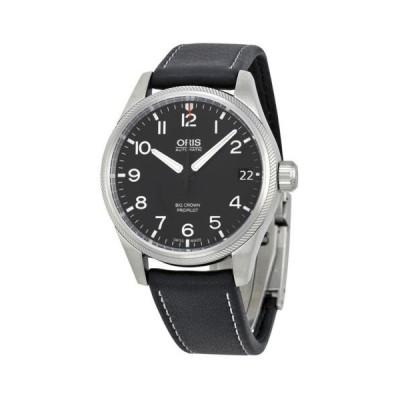 オリス Big Crown Prオーピーアイlot オートマチック  ブラック ダイヤル ブラック レザー メンズ 腕時計