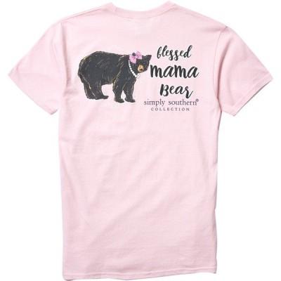 シンプリーサウザーン シャツ トップス レディース Simply Southern Women's Fur Mom Short Sleeve T-Shirt Lulu