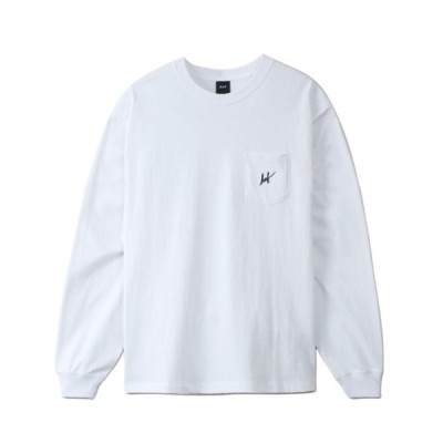 tシャツ Tシャツ SCRIPT POCKET L/SL TEE HUF Tシャツ 店舗限定 ロンT