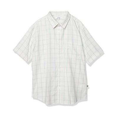 エーグル WOVEN SHIRTS 吸水速乾 ロストウィンドウ ペン 半袖シャツ メンズ ライトグレー 日本 00M (日本サイズM相当)