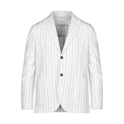 チルコロ 1901 CIRCOLO 1901 テーラードジャケット ホワイト 48 コットン 96% / ポリウレタン 4% テーラードジャケット
