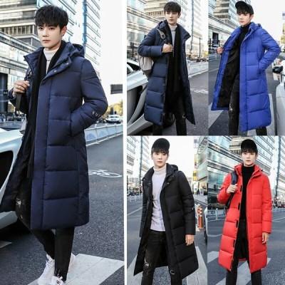 韓国 ファッション メンズ コート 厚手 秋冬 綿服 綿入れ ロング丈冬服 大きいサイズ アウター ジャケット カジュアル 分厚い 防寒