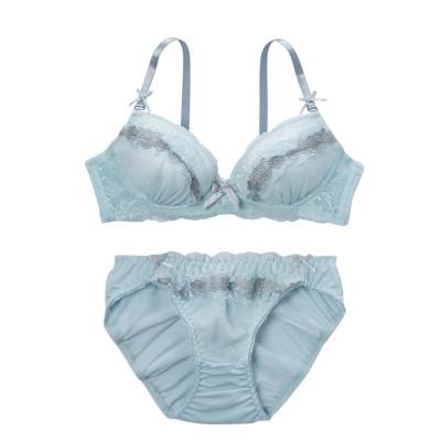 ロマンティックカントリーデザイン ノンワイヤーブラジャー・ショーツセット(L) (ブラジャー&ショーツセット)Bras & Panties