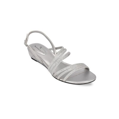 バンドリーノ サンダル シューズ レディース Tillya Women's Strappy Embellished Sandals Silver-Tone