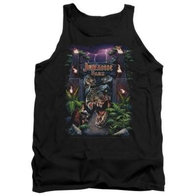 ユニセックス 衣類 トップス Jurassic Park Dinosaur Movie Spielberg Welcome To The Park Adult Tank Top Shirt タンクトップ