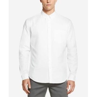 DKNY ダナキャランニューヨーク ファッション アウター DKNY Mens Shirt Solid White Size Medium M Long Sleeve Button Down