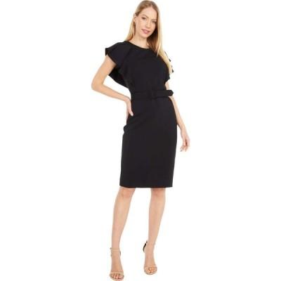 バッジェリー ミシュカ Badgley Mischka レディース ワンピース ワンピース・ドレス Draped Shoulder Day Dress Black/Navy/Raspberry