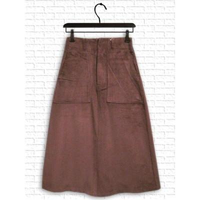 [スカート] ポケット付きコーデュロイスカート