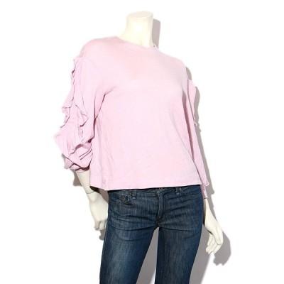 【中古】Kaon カオン 袖フリル 長袖カットソー F Pink ピンク /◆☆ レディース 【ベクトル 古着】