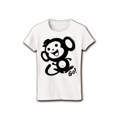Go! サル リブクルーネックTシャツ(ホワイト)