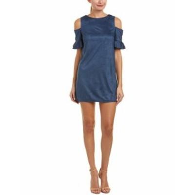Shift  ファッション ドレス Aiden Cold-Shoulder Shift Dress L Blue