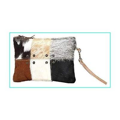 【新品】Myra Bag Button Squares Cowhide Leather Wristlet Bag S-0988(並行輸入品)