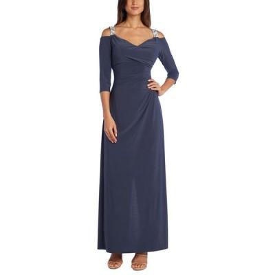 アールアンドエムリチャーズ レディース ワンピース トップス Embellished Cold-Shoulder Gown