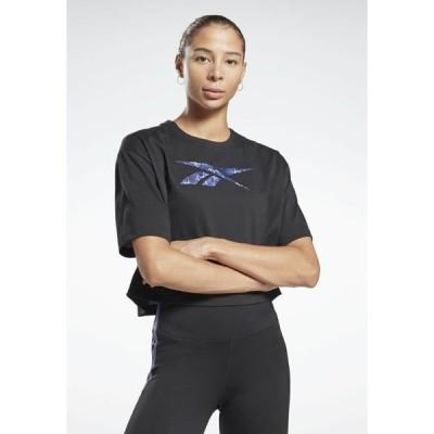 リーボック レディース スポーツ用品 GRAPHIC LEOPARD ONE SERIES WORKOUT - Print T-shirt - black
