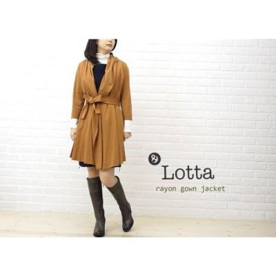 Lotta(ロッタ) レーヨンナイロン フード付き ロング ジャケット・122805-2371202