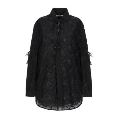 SAINT LAURENT 無地シャツ&ブラウス  レディースファッション  トップス  シャツ、ブラウス  長袖 ブラック