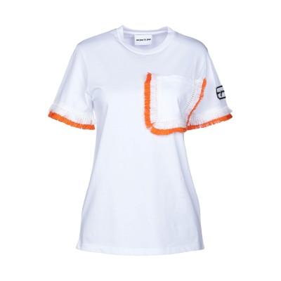オージュールルジュール AU JOUR LE JOUR T シャツ ホワイト 40 コットン 100% T シャツ
