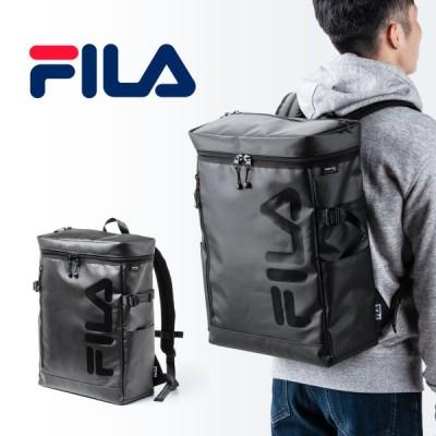 リュック メンズ リュックサック 大容量 24L 簡易防水 撥水 スクエアリュック FILA ビジネス バックパック バッグ 通勤 通学