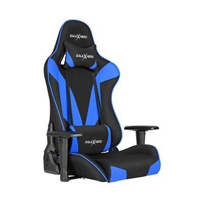 GALAXHERO ゲーミング座椅子 ゲーミングチェア 多機能 通気性抜群 ゲーム用チェア 360度回転 リクライニング ハイバック ヘッドレスト 腰にやさしいランバーサポ