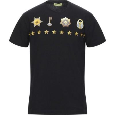 ヴェルサーチ VERSACE JEANS メンズ Tシャツ トップス t-shirt Black