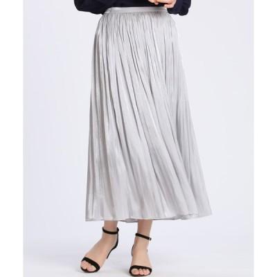 CLEAR IMPRESSION / シャインプリーツスカート