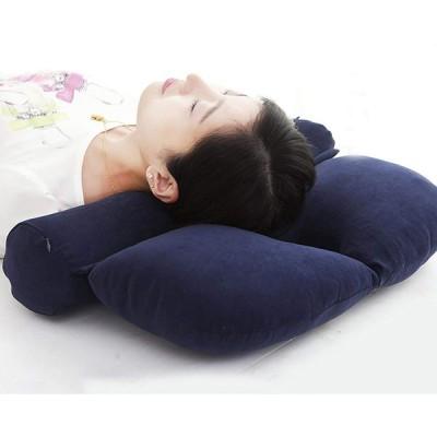 肩こり 頸椎サポートそば殻枕 頭痛改善 肩楽寝まくら ストレートネック 矯正枕 円柱 クッション 首・頭・肩を優しく支える健康枕 ボルスター