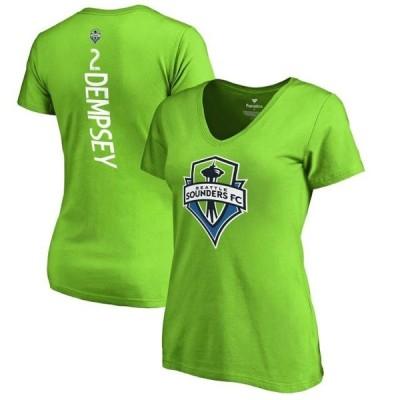 レディース スポーツリーグ サッカー Clint Dempsey Seattle Sounders FC Fanatics Branded Women's Backer Name & Number V-Neck T-Shirt - R