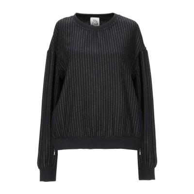 アティックアンドバーン ATTIC AND BARN スウェットシャツ ブラック S 毛(アルパカ) 75% / ナイロン 25% スウェットシャツ