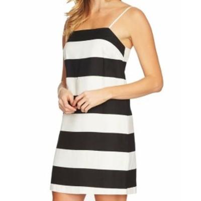 CeCe  ファッション ドレス CeCe NEW White Womens Size 14 Stripe Spaghetti Strap Sheath Dress